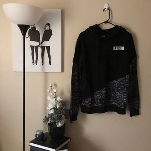 Rue 21 #King mens patterned hooded sweatshirt